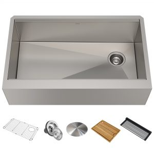 Kraus Kore 33-in Stainless Steel Single Bowl